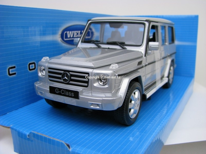Mercedes-Benz G Class silver 1:24 Welly