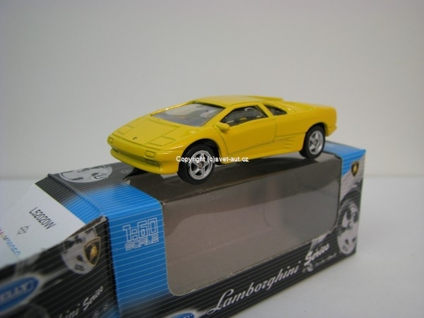 Lamborghini Diablo yellow 1:60 Welly