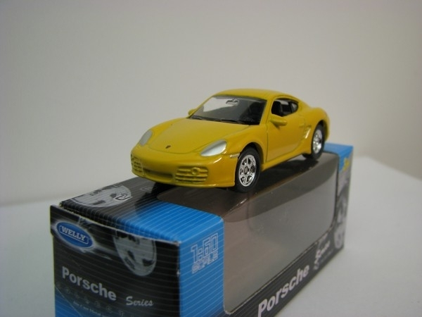 Porsche Cayman S yellow 1:60 Welly
