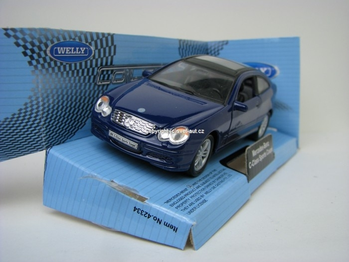 Mercedes C-Class Sports Coupe Blue 1:32 - 36 Welly