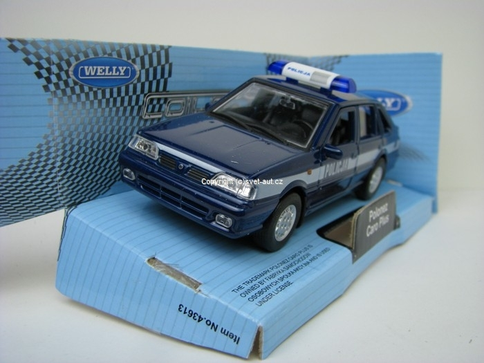 Polonez Caro Plus Policja blue 1:32 - 36 Welly