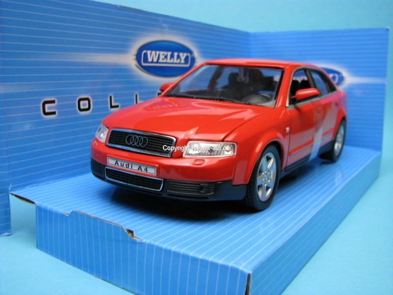 Audi A4 1994 red 1:24 Welly