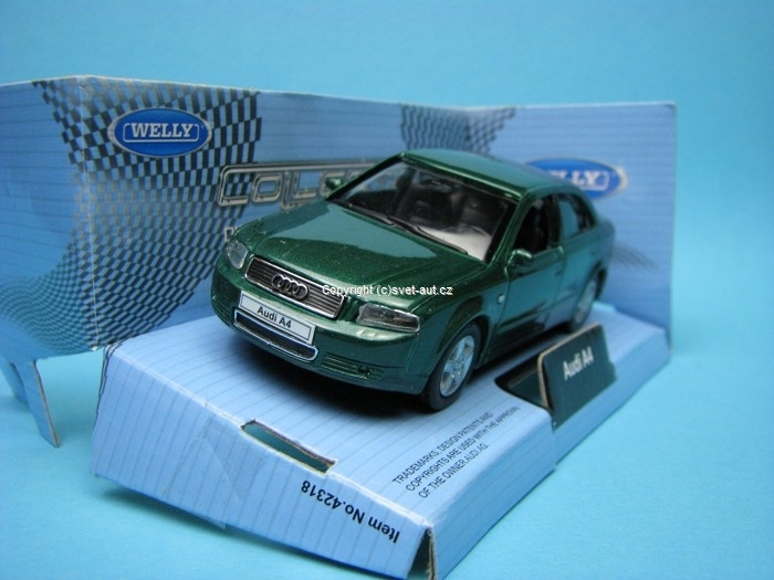 Audi A4 1994 green 1:32 - 36 Welly