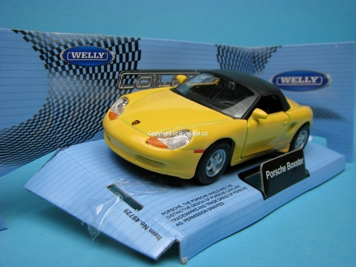 Porsche Boxster Soft top Yellow 1:32 - 36 Welly