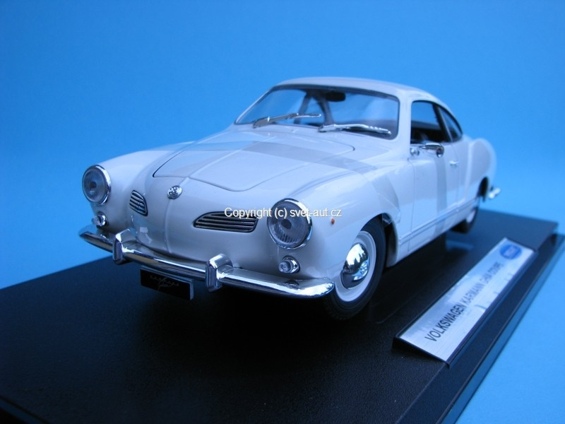 Volkswagen Karmann Ghia Coupe white 1:18 Welly