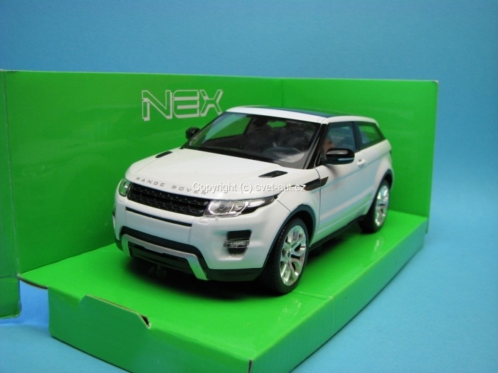 Land Rover Range Rover Evoque white 1:24 Welly