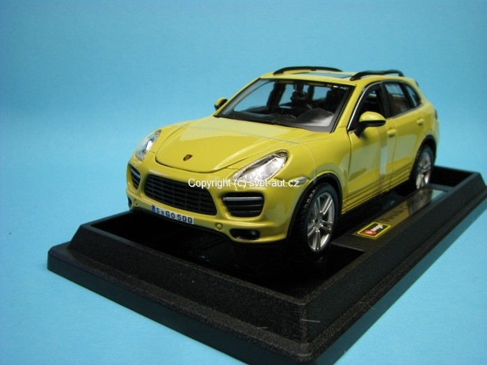 Porsche Cayenne Turbo yellow 1:24 Bburago