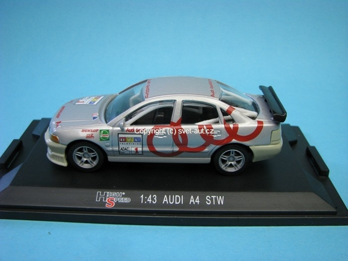 Audi A4 STW No.1 RTL Television 1:43 High Speed