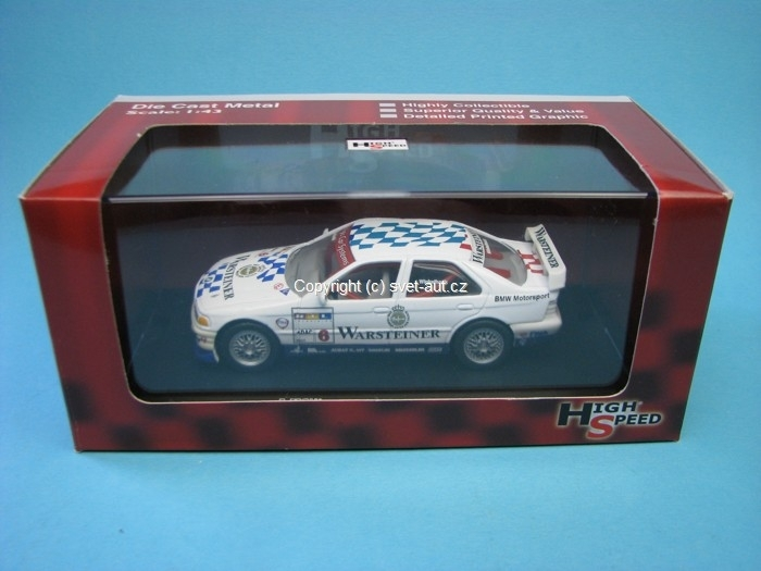 BMW 320i STW Warsteiner No.6 Winkelhock 1:43 High Speed