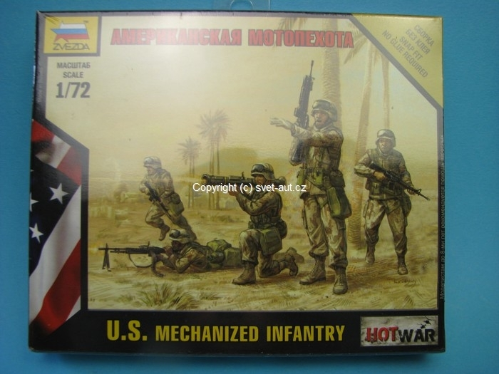 Figurky U.S. Mechanized Infantry 1:72 Zvezda