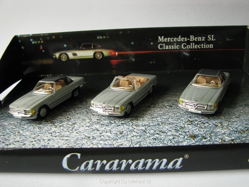 Mercedes 560SL Classic Collection Tri-pack 1:87 Cararama