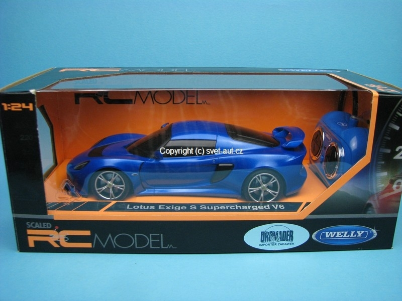 Lotus Exige S Superchaged V6 blue RC model 1:24 Welly
