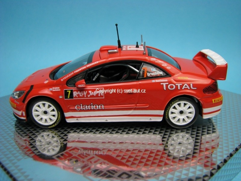 Peugeot 307 WRC Rally Japan No.7 Gronholm 1:43 Norev
