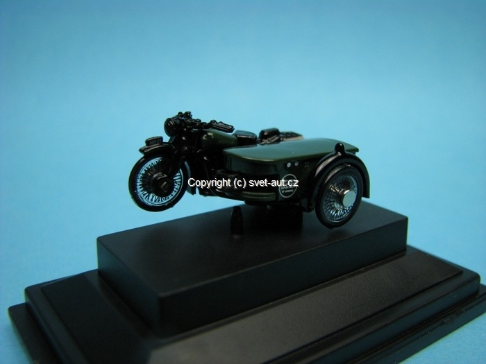 BSA Motorcykle sidecar Post office Telephones 1:76 Oxford
