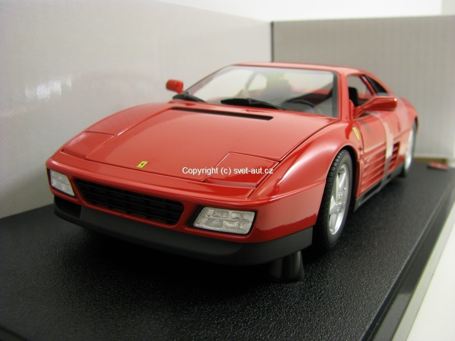 Ferrari 348 tb 1989 red 1:18 Hot Wheels