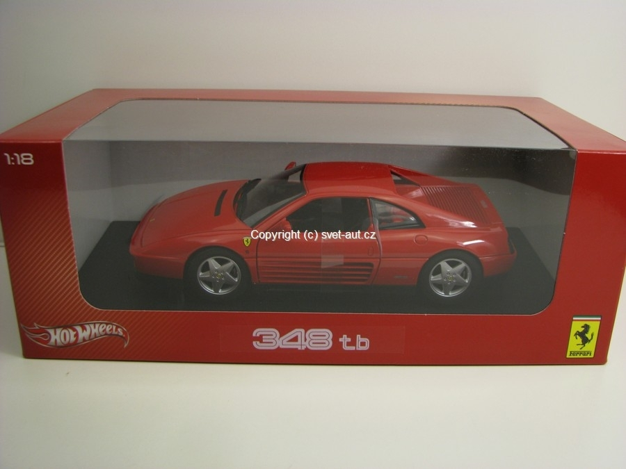 Ferrari 348 tb 1989 red 1:18 Hotwheels