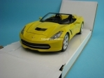 Chevrolet Corvette Stingray Convertible 2014 yellow 1:24 Maisto
