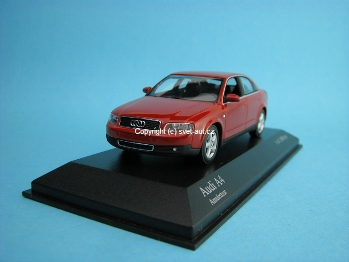 Audi A4 2000 red 1:43 Minichamps