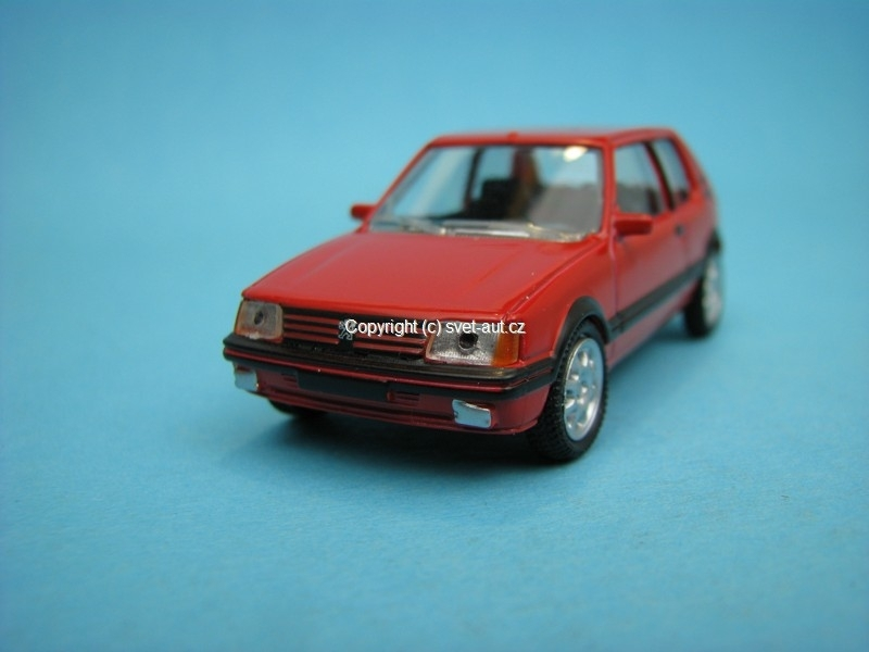Peugeot 205 GTI red 1:54 Norev Retro