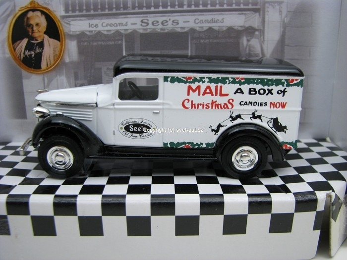 GMC 1937 Mail a Box of Christmas cukrárna Sees Matchbox Collecti