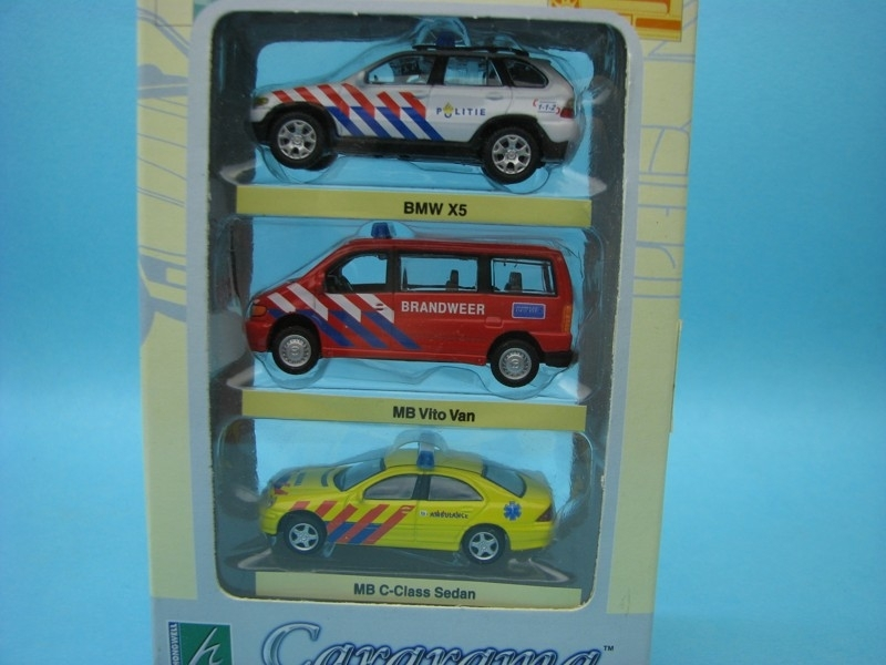 Set 3 ks BMW X5 a Mercedes-Benz Rescue 1:72 Cararama