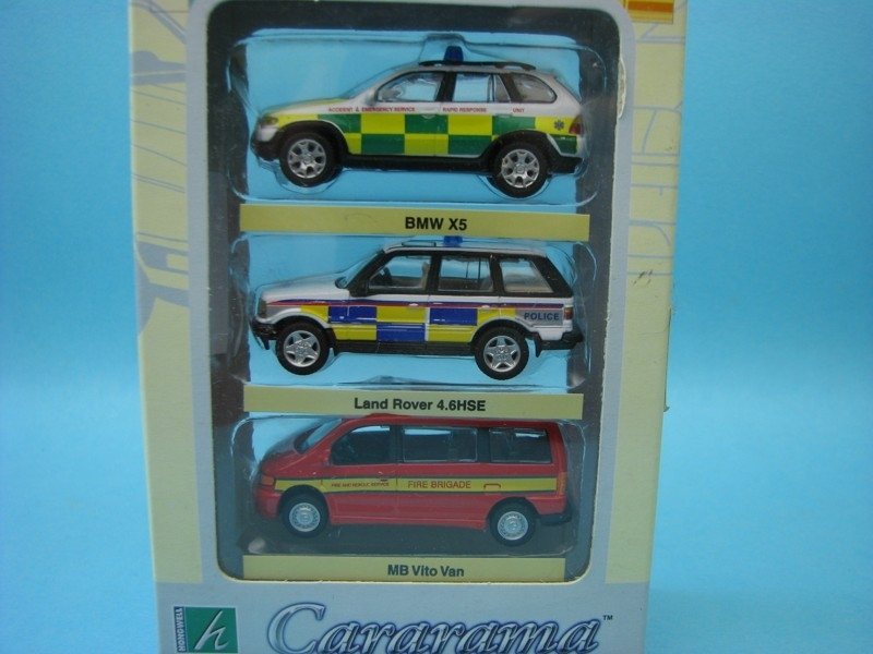 Set 3 ks BMW X5 a Land Rover Rescue 1:72 Cararama