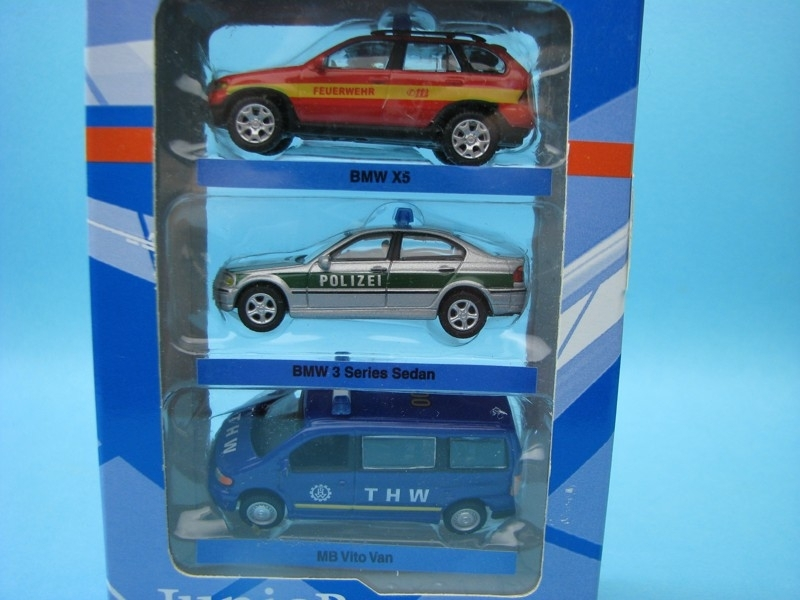 Set 3 ks BMW X5 BMW 3 a Mercedes Vito Rescue 1:72 Cararama