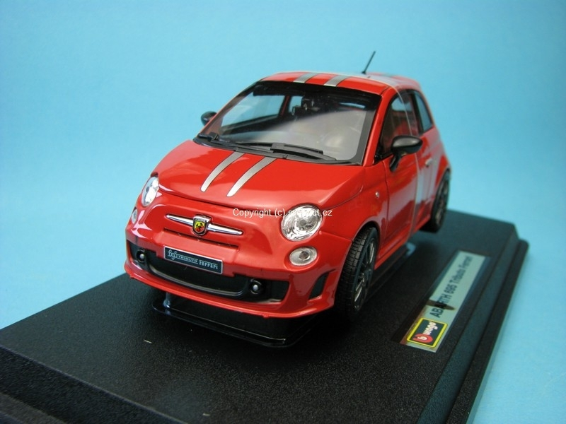 Fiat Abarth 695 Tributo Ferrari Red 1:24 Bburago