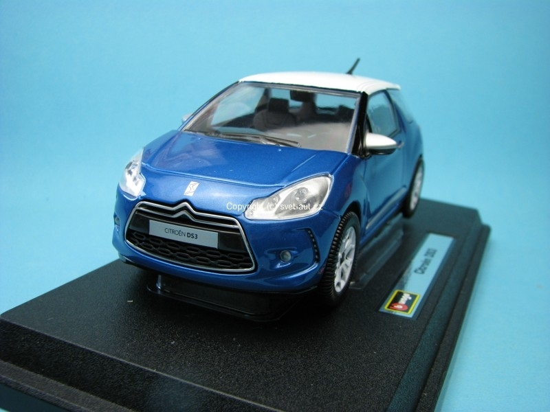Citroen DS3 blue 1:24 Bburago