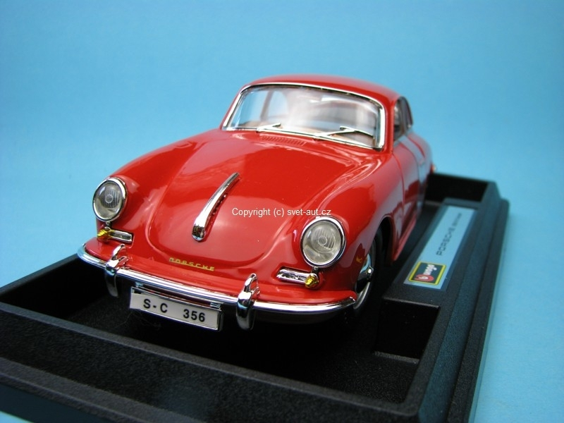 Porsche 356 B coupe red 1:24 Bburago