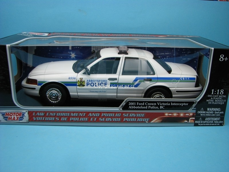 Ford Crown Victoria Interceptor Abbotsford Police 1:18 Motor Max