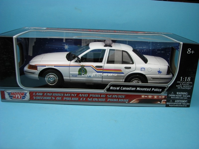 Ford Crown Victoria Royal Canadian Mounted Police 1:18 Motor Max