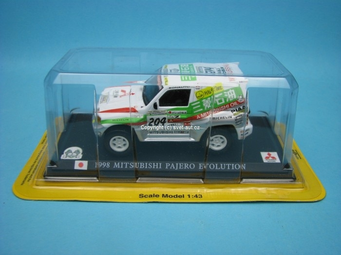 Mitsubishi Pajero Evolution No.204 Paris - Dakar 1998 1:43 Del P