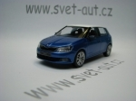 Škoda Fabia III Race Blue, White Roof 1:43 i-Scale