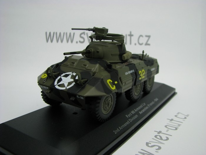 Ford M8 Armored Car 2nd Arm. Div. Avranches France 1944 1:43 Atlas