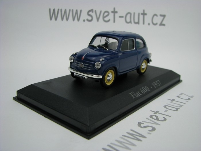 Fiat 600 1957 blue 1:43 Atlas