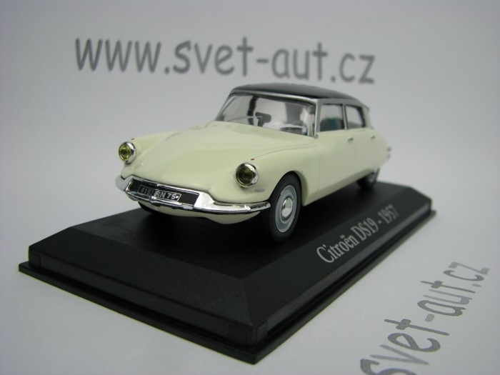 Citroen DS19 1957 Vanilla Brown 1:43 Atlas