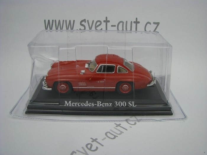 Mercedes-Benz 300SL red 1:43 Atlas