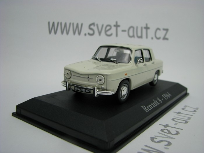 Renault 8 1964 white 1:43 Atlas