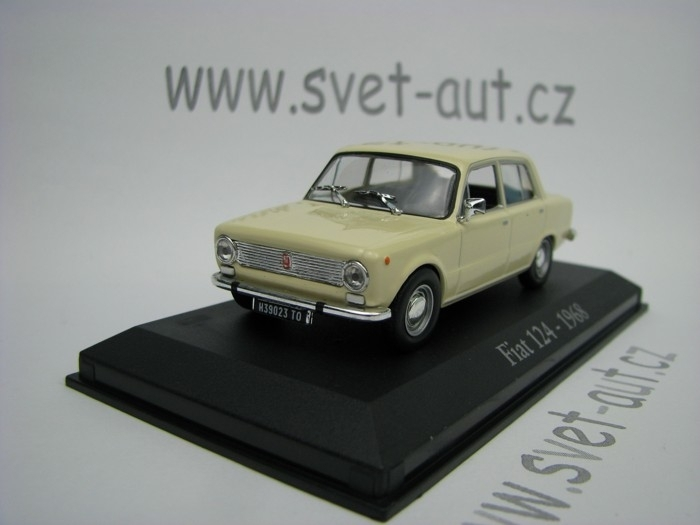 Fiat 124 Berlina 1968 creme 1:43 Atlas