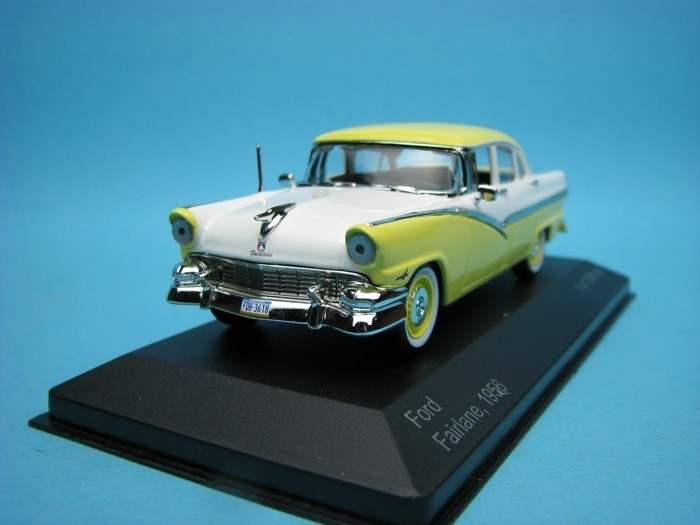 Ford Fairlane 1956 yellow white 1:43 White Box
