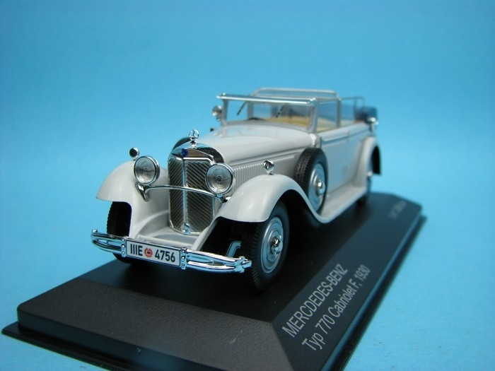 Mercedes-Benz Typ 770 Cabriolet F 1930 grey 1:43 White Box 183616
