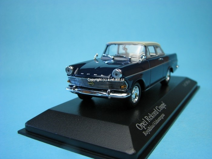 Opel Rekord P2 Coupe 1960 blue/grey 1:43 Minichamps