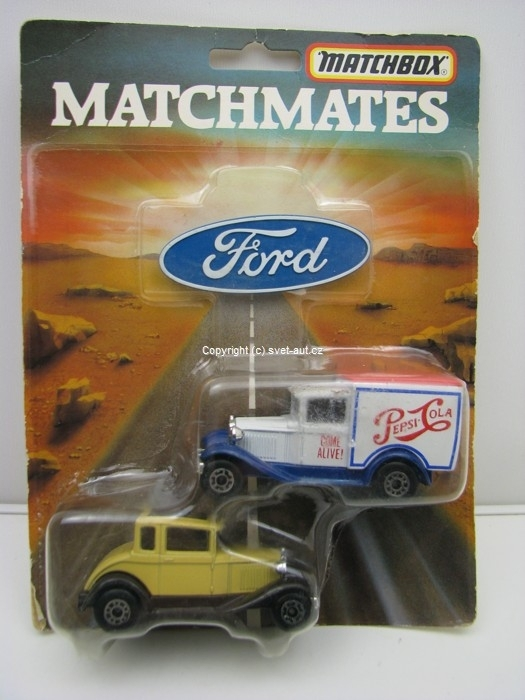 Set 2 modely Ford 1:64 Matchbox