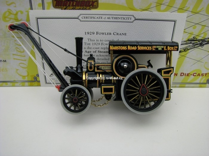Fowler Crane 1929 Matchbox Collectibles