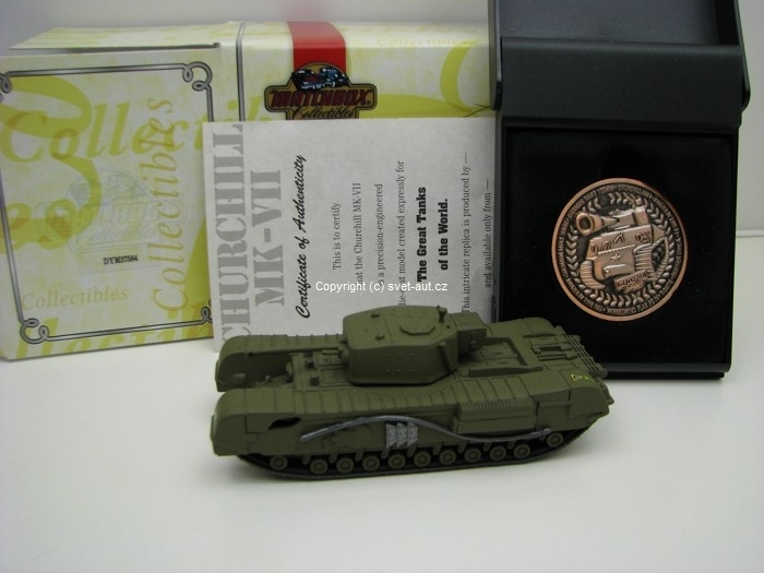 Tank Churchill MK-VII s plaketou Matxchbox Collectibles