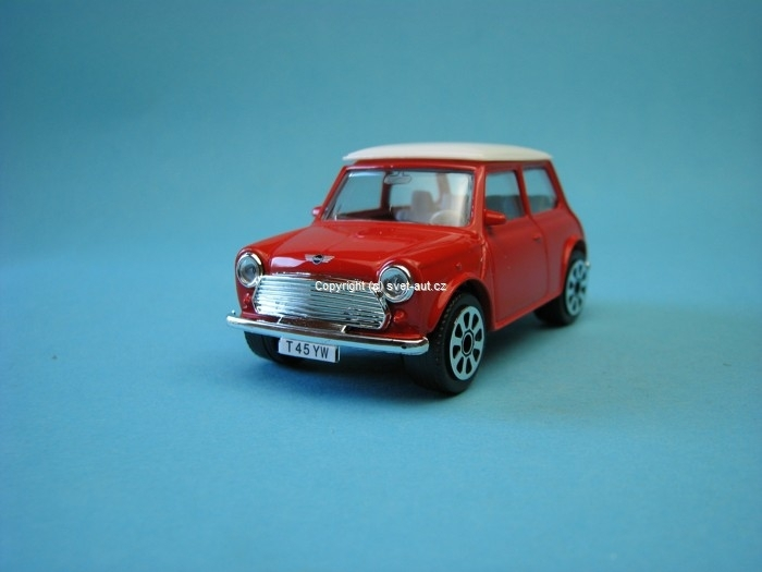 Mini Cooper 1969 red white 1:43 Bburago