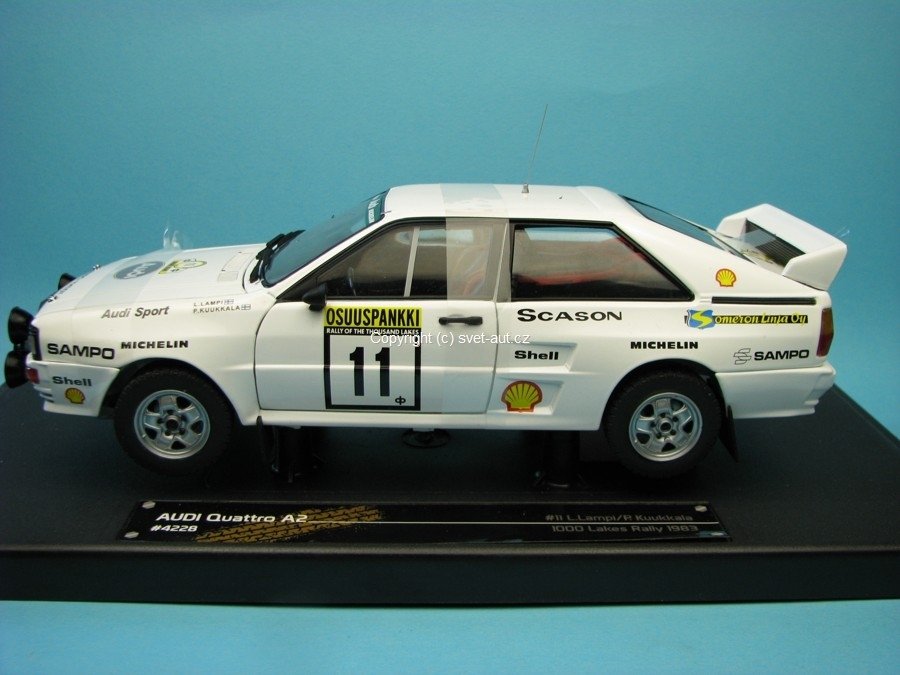 Audi Quattro A2 No.11 Lampi 1000 Lakes Rally 1983 1:18 Sunstar