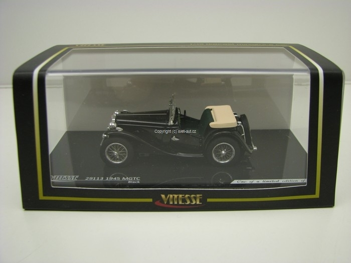 MG TC 1945 cabrio Black 1:43 Vitesse