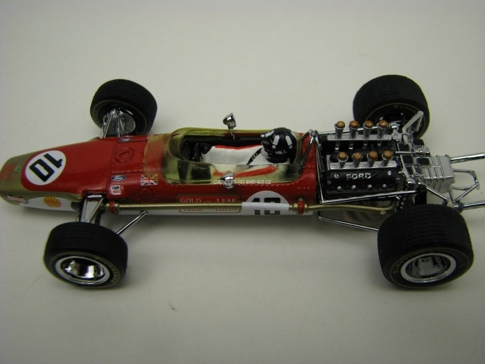 Lotus 49 F1 No.10 Graham Hill GP Spain 1968 1:43 Quartzo